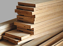 Madeira de madeira do pinho Fotos de Stock Royalty Free