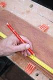 Madeira de medição Foto de Stock