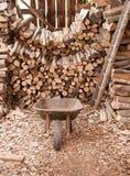 A madeira derramou completamente dos logs Imagem de Stock