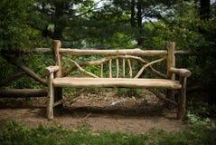 Madeira do banco de parque Imagem de Stock