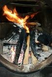 A madeira do fogo Fotografia de Stock