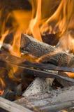 Madeira do incêndio Imagens de Stock Royalty Free