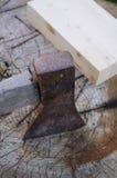 Madeira do machado Fotografia de Stock Royalty Free