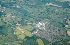 Madeira do prado, Kent - vista aérea imagens de stock
