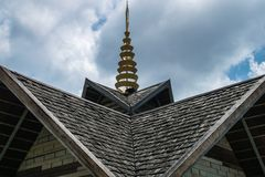 Madeira do telhado Foto de Stock Royalty Free