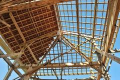 Madeira dois da casa de campo de Eco foto de stock royalty free