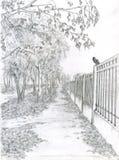Madeira e aço ilustração stock