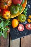 Madeira e alimento Fotos de Stock