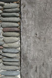 Madeira e pedra Imagem de Stock Royalty Free