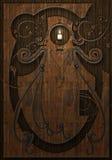 Madeira e vela gravadas Ilustração Stock