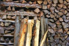 Madeira empilhada Fotografia de Stock