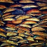 Madeira empilhada Foto de Stock Royalty Free