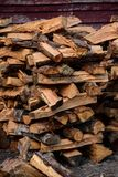 Madeira empilhada do fogo modelada imagem de stock royalty free