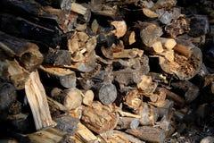 Madeira empilhada do incêndio Imagem de Stock