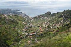 Madeira en sikt på havet Arkivbild