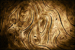 A madeira escura roda textura org?nica do fundo Imagens de Stock
