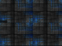 Madeira escura velha com o azul pintado, em testes padrões quadrados imagem de stock