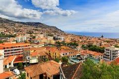 Madeira Funchal fresh summer view stock image