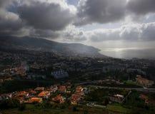 Madeira. Funchal. Panorama. Peak of Barcelos. stock photography