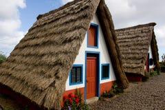 Madeira-Häuser Stockbild