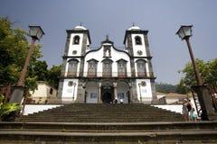 Madeira - Igreja de Nossa Senhora faz a igreja de Monte Fotografia de Stock