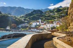 Madeira-Insel, von Faial-Dorf Stockfotografie