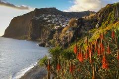 Madeira Island. Island of Madeira, looking towards the town of Camara de Lobos Stock Photo