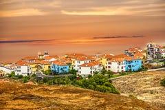 Madeira island, Portugal. Town houses of Porto Cruz and Ponte de royalty free stock photos