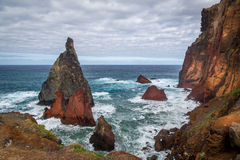 Madeira island rocks Stock Photos