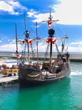 Madeira Island, Santa Maria Columbus Ship, Funchal Royalty Free Stock Photos