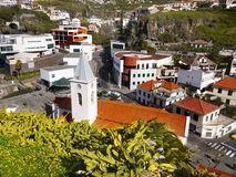 Madeira Island, South Coast, Camara de Lobos, Portugal. Camara de Lobos - fishing village on the South coast. Madeira Island, Portugal.  Europe Stock Photo
