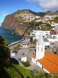 Madeira Island, South Coast, Camara de Lobos, Portugal. Scenic coast and Camara de Lobos - fishing village on the South coast. Madeira Island, Portugal. Europe Stock Image