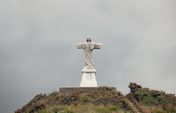 Madeira - Jesus Christ Statue at Garajau Royalty Free Stock Photography