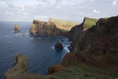 Madeira landscape. Madeira island, coast landscape at sunset - Atlantic ocean - Portugal Stock Photo