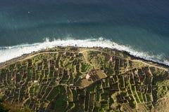 Madeira landscape. Madeira island, coast landscape at sunset - Atlantic ocean - Portugal Royalty Free Stock Image