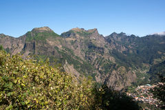 Madeira landscape with mountains Royalty Free Stock Photos