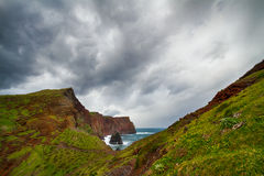 Madeira landscape and ocean. Royalty Free Stock Photo