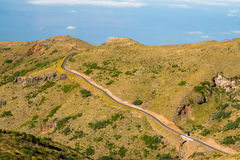 Madeira landscape with winding road Stock Image