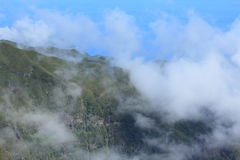 Madeira mountain clouds Royalty Free Stock Image