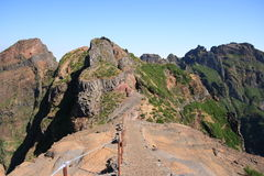Madeira mountain footpath Royalty Free Stock Photo