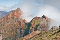 Madeira mountains. Mountains near pico do arieiro on madeira island, portugal Royalty Free Stock Images