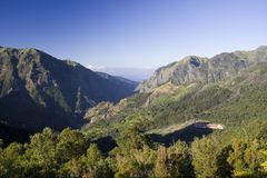 Madeira Mountains II. Climbing up to the roof of Madeira stock images