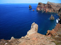 Madeira. Mountains and ocean. Royalty Free Stock Photo