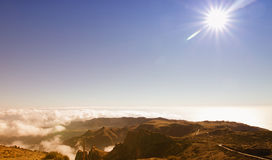 Madeira mountains from the sky Stock Images