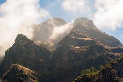 Madeira mountains surrounding the curral das freiras Royalty Free Stock Photography