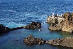 Madeira natural swimming pool Stock Image