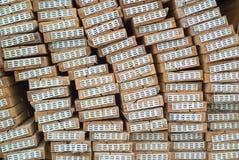 Madeira no armazém da fábrica Imagem de Stock Royalty Free