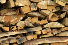 Madeira no woodpile foto de stock royalty free