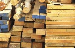 A madeira para faz a casa Imagens de Stock Royalty Free