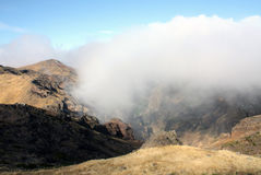 Madeira. Pico do Arieiro. Cloudy Pico do Arieiro in Madeira Royalty Free Stock Photos